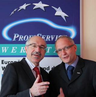 Walter Schiel (ELN) mit Thomas Michalzik (Coparts)