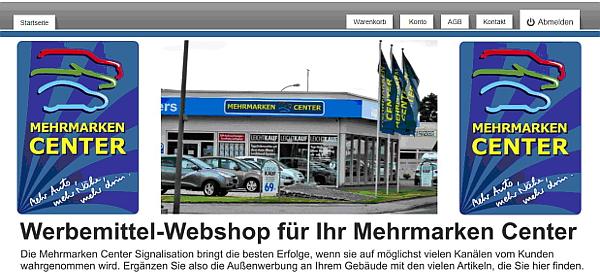 Werbemittel Webshop für Ihr Mehrmarken Center